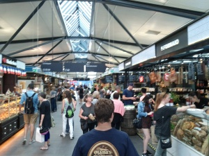exploring a great food market in the center of Copenhagen